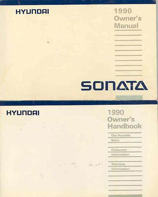 1990 Hyundai Sonata Owner's Manual and Pouch fo675-RMT71R