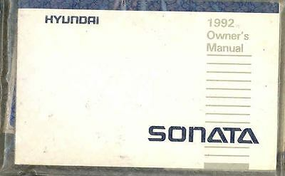 1992 Hyundai Sonata Owner's Manual and Pouch fo690-5NIHVT