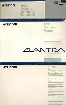 1993 Hyundai Elantra Owner's Manual with booklets fo692-EEFX9P