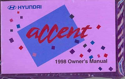 1998 Hyundai Accent Owner's Manual and Pouch fo709-G1S1J7