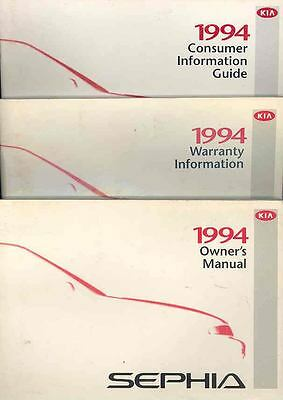 1994 Kia Sephia Owner's Manual with booklets fo774-6TPCKQ