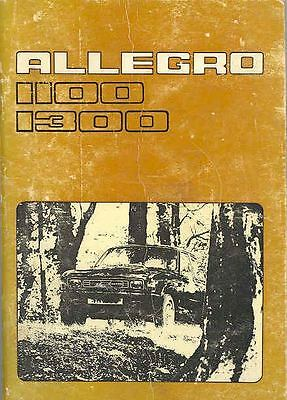 1977 Leyland Allegro 1100 1300 Owner's Manual Danish fo811-T6JFVG