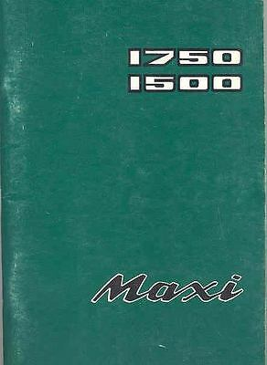 1977 Leyland Maxi 1750 1500 Owner's Manual Danish fo812-DMWIVQ