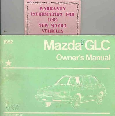 1982 Mazda GLC Owner's Manual with booklet fo899-HI6SHT