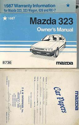 1987 Mazda 323 Owner's Manual and Pouch fo918-4244OU