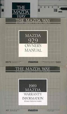 1989 Mazda 929 Owner's Manual and Pouch fo930-3CFWXM