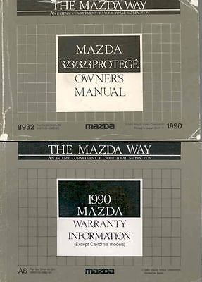 1990 Mazda 323 and 323 Protege Owner's Manual and Pouch fo936-PMMMRB
