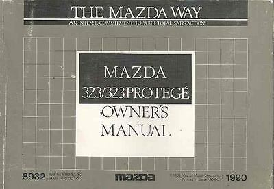 1990 Mazda 323 and 323 Protege Owner's Manual fo935-24OXTU