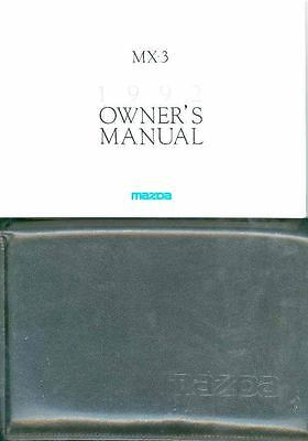 1992 Mazda MX3 Owner's Manual and Pouch fo954-FB7CLN