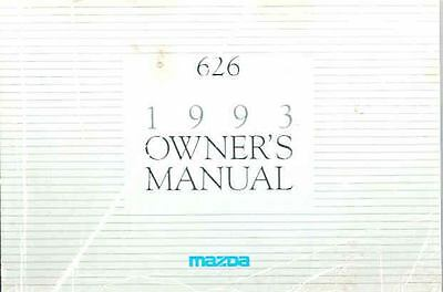 1993 Mazda 626 Owner's Manual fo959-N8RX9D