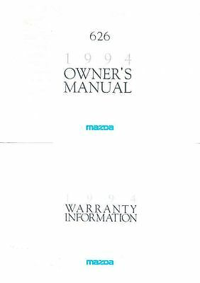 1994 Mazda 626 Owner's Manual and Pouch fo967-4P57LW