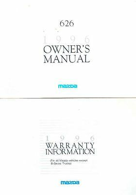 1996 Mazda 626 Owner's Manual and Pouch fo975-INS46G