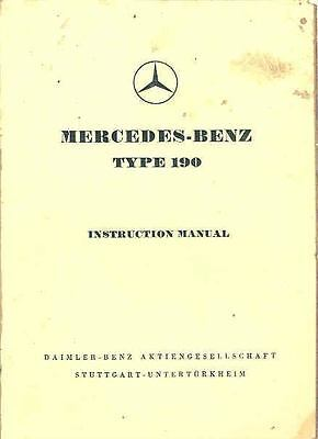 1956 Mercedes Type 190 Owner's Manual fo997-FTSKY5
