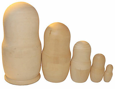 MAKE YOUR OWN 5 RUSSIAN NESTING(STACKING) DOLLS KIT! 16 cm/6.4''
