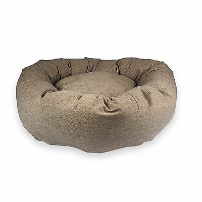 STANDARD – DONUT BED Golden Brown Dog Bed. Small & Extra Large Animal Nesting