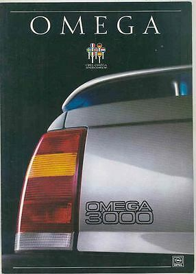1988 Opel Omega 3000 German Brochure Car of the Year 1987 mx5528-OCD8OG