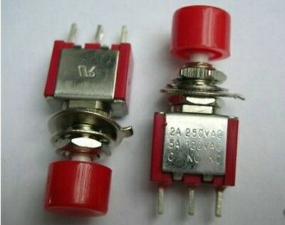 N//O NORMALLY OPEN DOOR//HOOD PIN SWITCH POLY CARBONATE SHAFT #PSP4-2PK 2 PACK