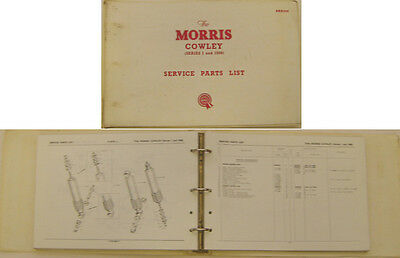 Morris Cowley Series 1 & 1500 original illustrated Service Parts List 1965