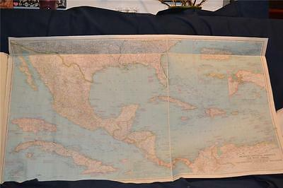 Nat Geographic Map © 1939- Mexico, Central America and The West Indies (M20139)