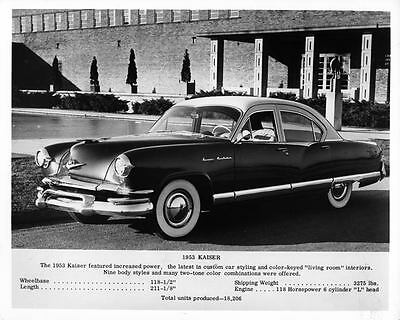 1953 Kaiser Frazer Factory Photo ad6453-1E2Q79