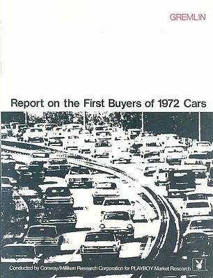 1972 AMC Gremlin First Buyers Report Brochure 84427-D1CC3C