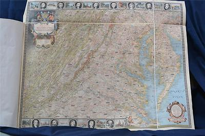 """National Geographic Map © 1938 """"Reaches of the Nation's Capital"""" (M20136)Mounted"""