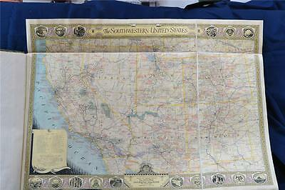 National Geographic Southwestern United States map, ©June 1940  (M20135) Mounted
