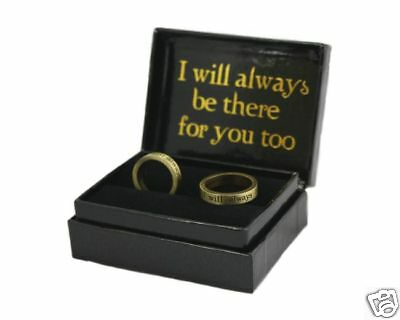 NEW MOON =PEWTER RING SET= Always Be There twilight NEW