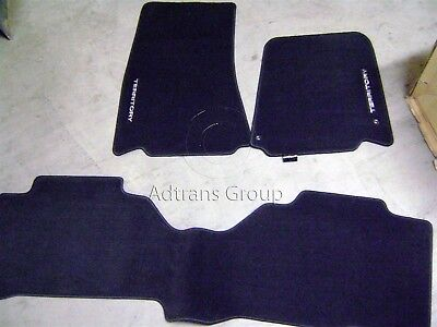 Genuine Ford Sx Sy + Mk2 Territory Shadow Black Carpet Mat Set Tailored W/logo