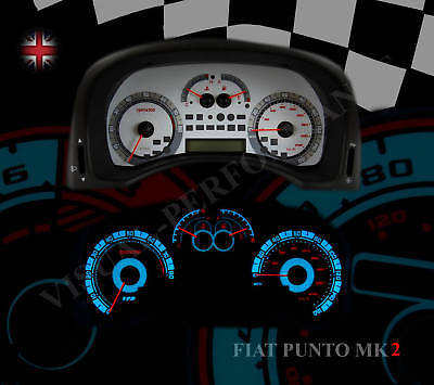 Fiat Punto mk2 HGT speedo interior dash gauge panel dial light bulb custom kit