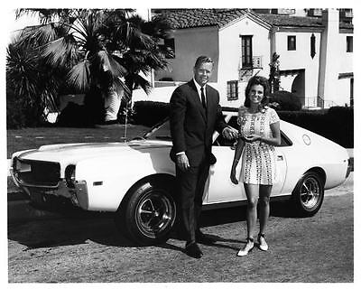 1968 AMC AMX Factory Photo RW McNealy & Angela Dorian ad7570-8SIO7X