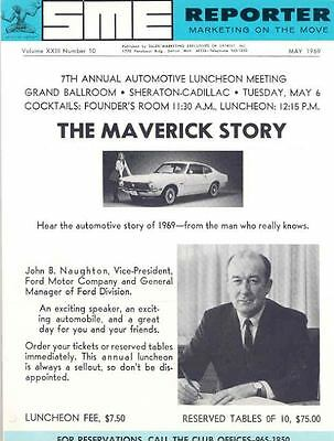 1970 Ford SME Reporter Auto Meeting Brochure Maverick 92559-UY52V3
