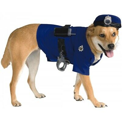 Police Dog Costume Pet Cop Halloween Fancy Dress