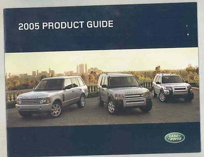 2005 Land Rover Range Rover Brochure wt0715-WV8OF2