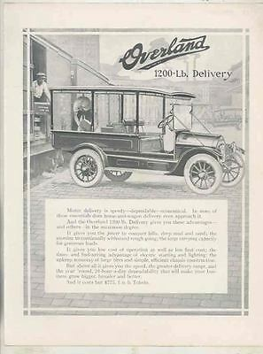 1915 1916 Willys Overland Model 83 1200 Pound Delivery Truck Brochure wt0883-4DS