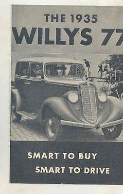 1935 Willys 77 Sedan Coupe Panel Delivery Brochure wt0887-BDBY1K