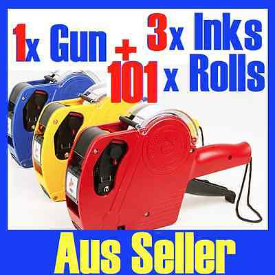 1 x Price Pricing Gun Labeller +101 Rolls Labels + 3 Inks NG11