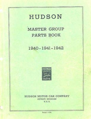 1940 1941 1942 Hudson 6 & 8 Cylinder Chassis & Body Parts Book I314-BBQAAL