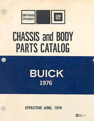 1976 Buick Chassis & Body Illustrated Parts Book I797-1FFAUG