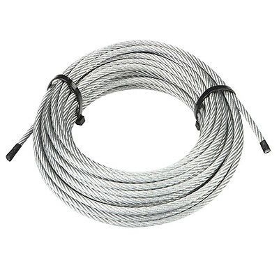 "7 x 19 Galvanized Aircraft Cable Wire Rope 3/8"" - 100 ft"
