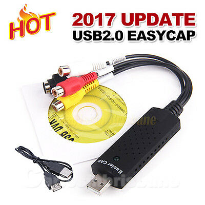 Converter Easycap Audio Video Adapter USB VHS to DVD Video Capture Win7 Win8