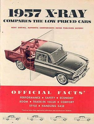 1957 AMC Rambler Vs Ford Chevrolet Plymouth Brochure 153394-59WTMP