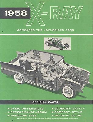 1958 AMC Rambler Vs Cadillac Plymouth XRay Brochure 153439-L1C7RE