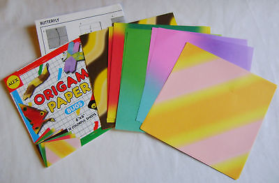 New Bugs Origami Paper Square Patterned Sheets & Instructions Insects Alex 299