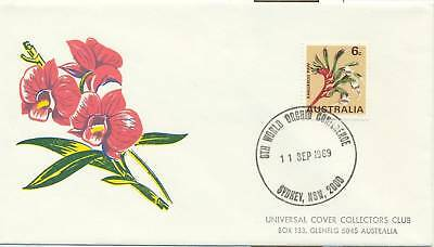 Stamp Australia on Orchid Conference 1969 Sydney special souvenir cover postmark