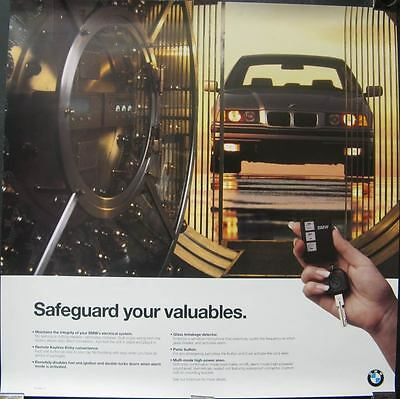 1995 BMW 740i Anti Theft System Showroom Poster 116261-CIXOUQ