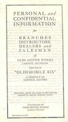 1924 Oldsmobile Salesman's Brochure Personal &  117277-AOTIOU