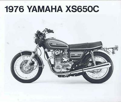 1976 Yamaha XS650C Motorcycle ORIGINAL Factory Photo 133392-EFGF7Z