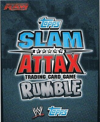 WWE Slam Attax TCG Rumble Choose One Raw Card from List [Part 2/2]