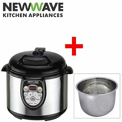 New Wave Multi Cooker 5 in 1+ 6L Stainless Steel Bowl - Bundle Deal!